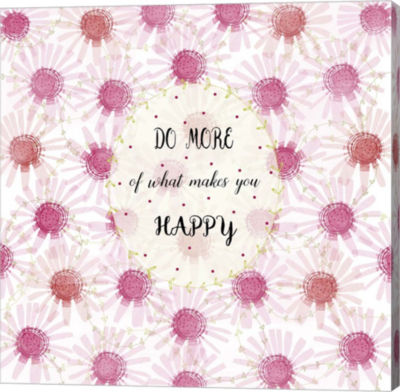 Metaverse Art Do More Of What Makes You Happy Canvas Wall Art
