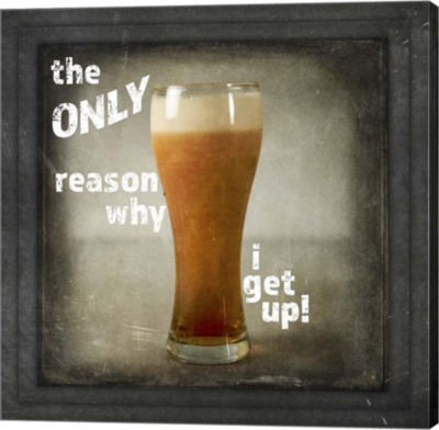 Metaverse Art Dorm Room Pub Just Beer Only ReasonWhy Canvas Wall Art