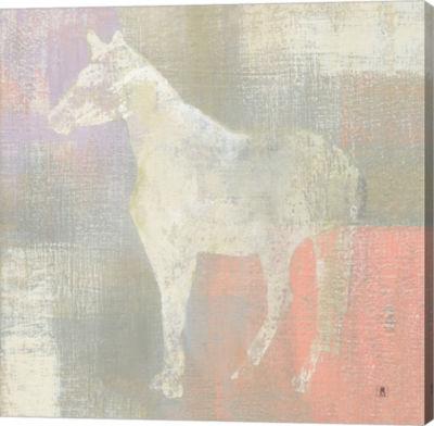 Metaverse Art Dusk Pony Canvas Wall Art