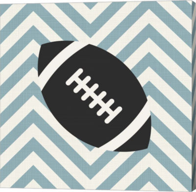 Metaverse Art Eat Sleep Play Football Part I Canvas Wall Art