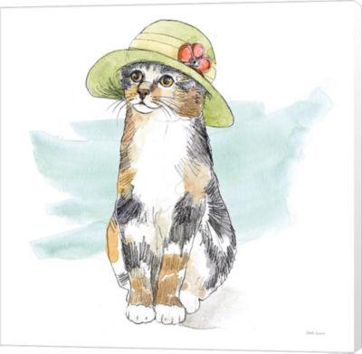 Metaverse Art Fancy Cats III Watercolor Canvas Wall Art
