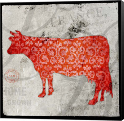 Metaverse Art Farm Fresh Cow Canvas Wall Art