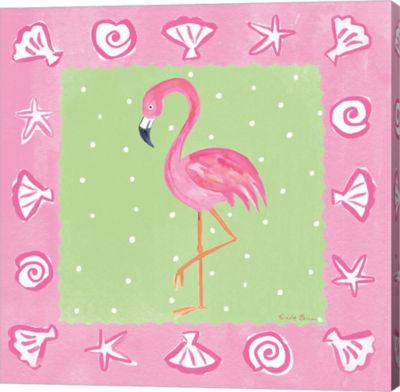 Metaverse Art Flamingo Dance II Canvas Wall Art