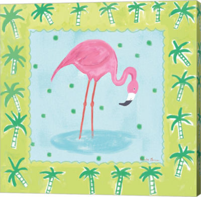 Metaverse Art Flamingo Dance III v2 Canvas Wall Art
