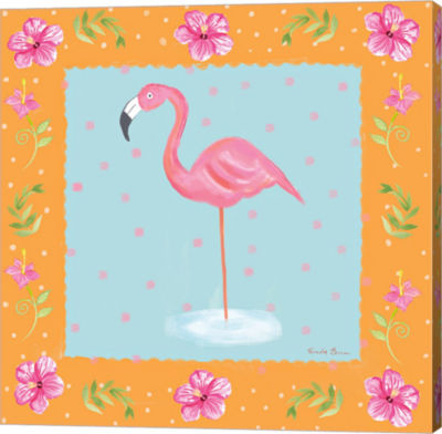 Metaverse Art Flamingo Dance IV Canvas Wall Art