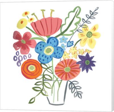 Metaverse Art Floral Medley I Canvas Wall Art