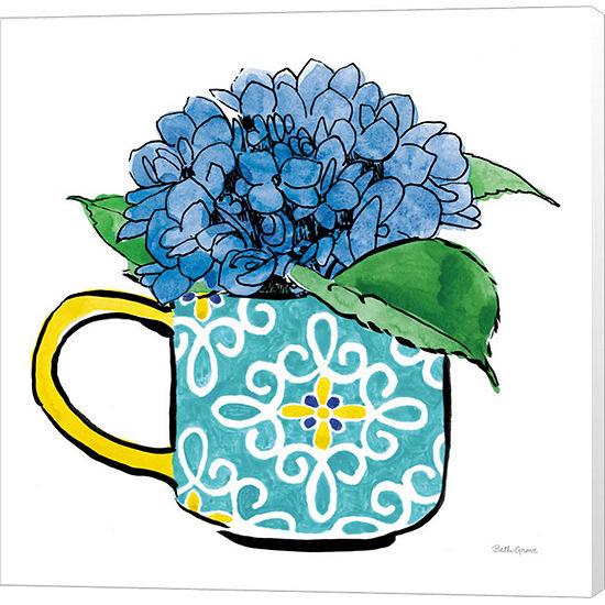 Metaverse Art Floral Teacups III Canvas Wall Art