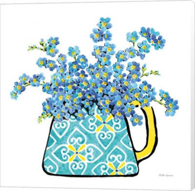 Metaverse Art Floral Teacups IV Canvas Wall Art