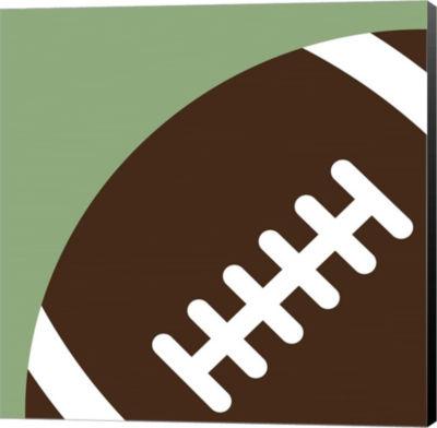 Metaverse Art Football Close-ups - Ball Canvas Wall Art