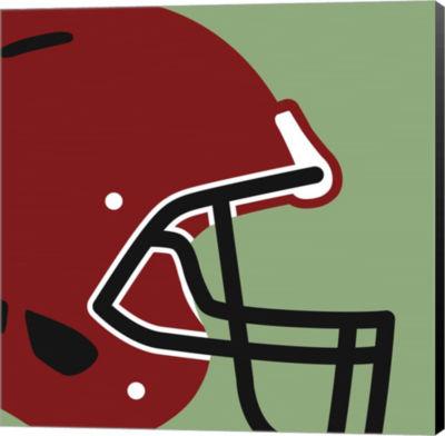 Metaverse Art Football Close-ups - Helmet Canvas Wall Art