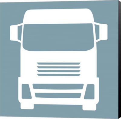 Metaverse Art Front View Trucks Set II Canvas WallArt
