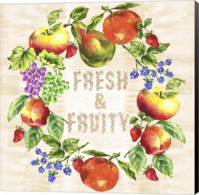 Metaverse Art Fruit Wreath Canvas Wall Art