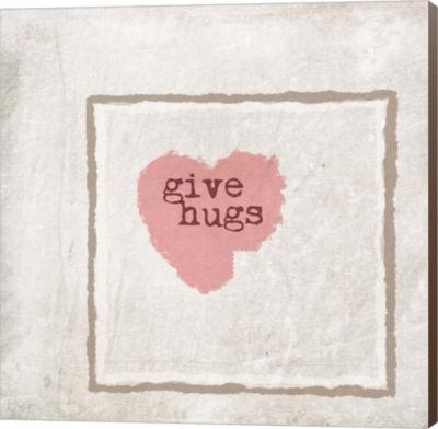 Metaverse Art Give Hugs Canvas Wall Art