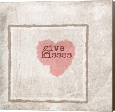 Metaverse Art Give Kisses Canvas Wall Art