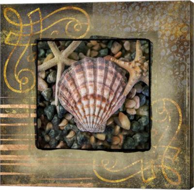 Metaverse Art Gold Sea Scape 2 (558) Canvas Wall Art