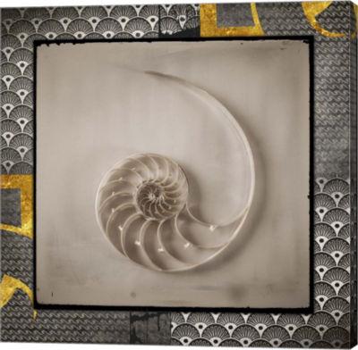 Metaverse Art Gold Sea Scape 2 Canvas Wall Art