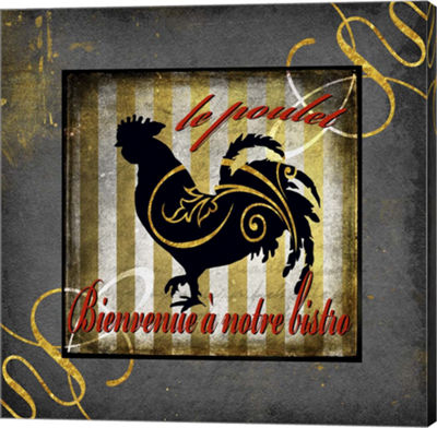 Metaverse Art Gold Welcome To Our Bistro Chicken 1Canvas Wall Art
