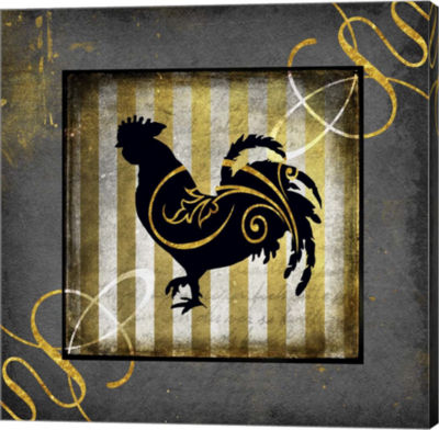Metaverse Art Gold Welcome To Our Bistro Chicken 2Canvas Wall Art