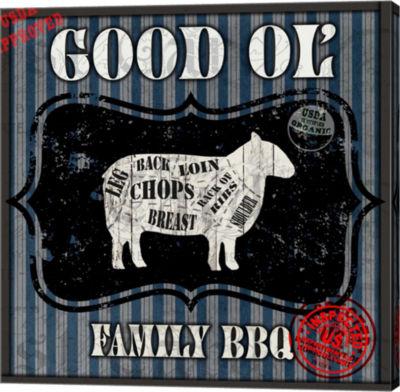 Metaverse Art Good Ol' Family BBQ Square Sheep Canvas Wall Art
