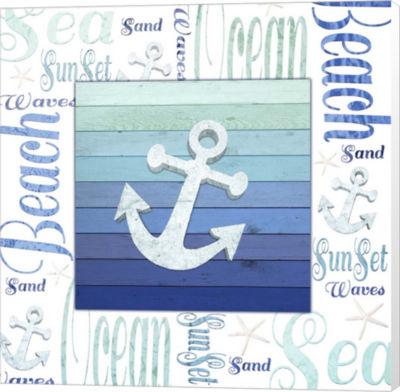 Metaverse Art Gypsy Sea Blue 1 Canvas Wall Art