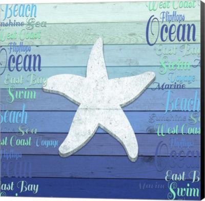 Metaverse Art Gypsy Sea Blue V3 4 Canvas Wall Art