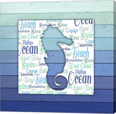 Metaverse Art Gypsy Sea Blue V4 1 Canvas Wall Art