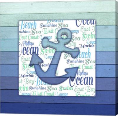 Metaverse Art Gypsy Sea Blue V4 2 Canvas Wall Art