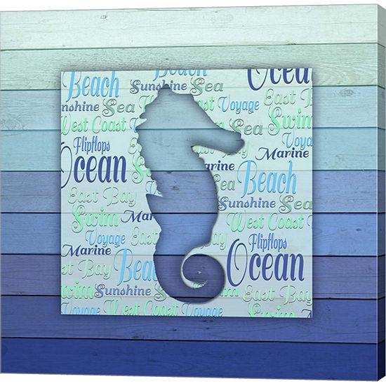 Metaverse Art Gypsy Sea Blue V5 1 Canvas Wall Art