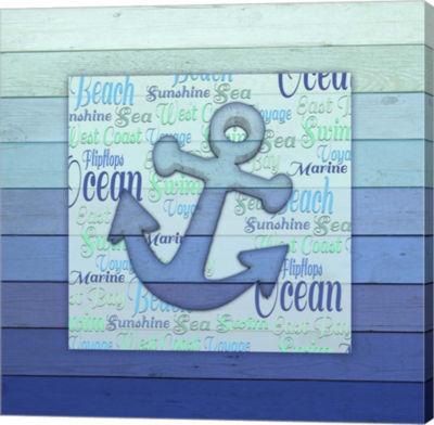 Metaverse Art Gypsy Sea Blue V5 2 Canvas Wall Art