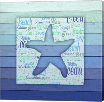 Metaverse Art Gypsy Sea Blue V5 4 Canvas Wall Art