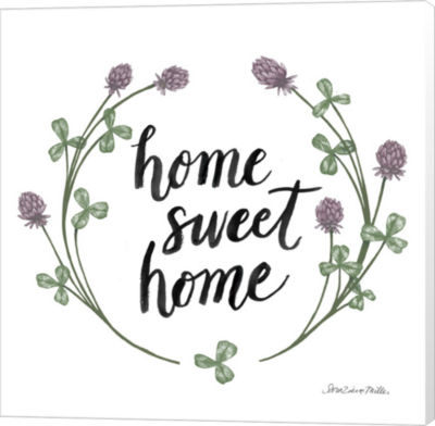 Metaverse Art Happy to Bee Home Words I Canvas Wall Art