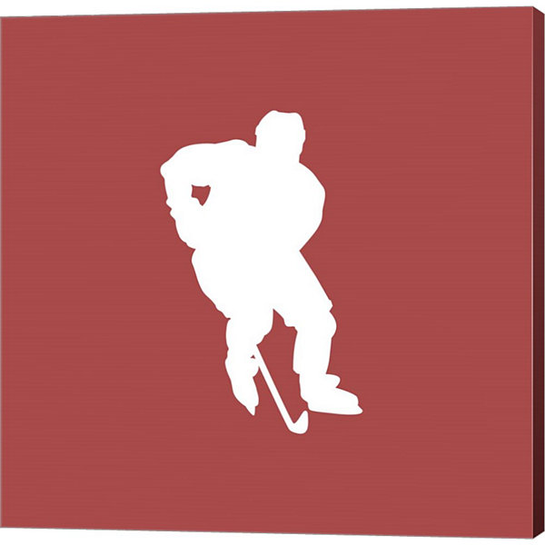 Metaverse Art Hockey Player Silhouette - Part I Canvas Wall Art