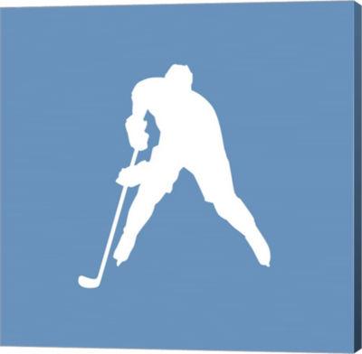 Metaverse Art Hockey Player Silhouette - Part IIICanvas Wall Art