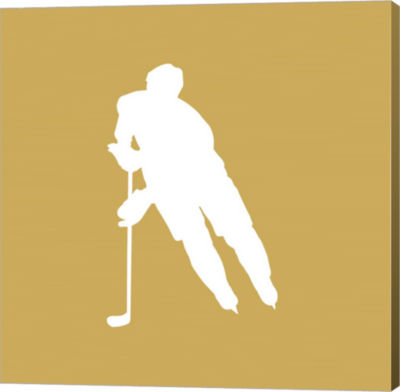 Metaverse Art Hockey Player Silhouette - Part IV Canvas Wall Art