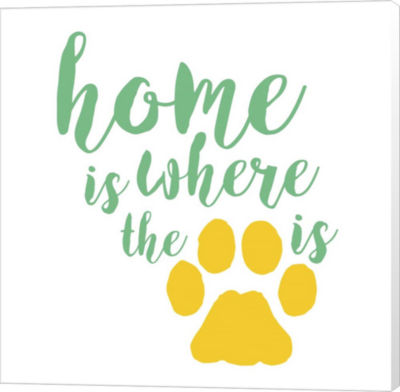 Metaverse Art Home Is Where The Paw Is Canvas WallArt