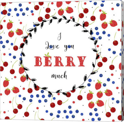 Metaverse Art I Love You Berry Much Canvas Wall Art