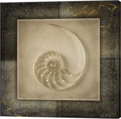 Metaverse Art Light Gold Sea Warm Canvas Wall Art