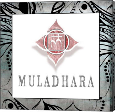 Metaverse Art Muladhara Symbol 4 Canvas Wall Art