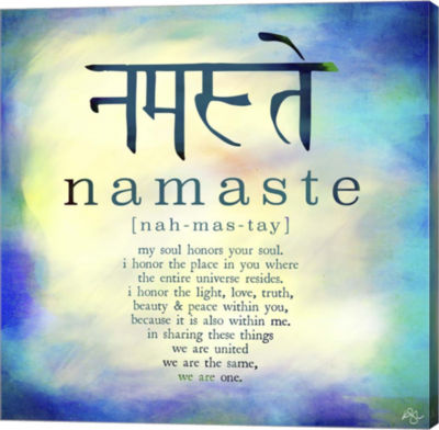Metaverse Art Namaste Canvas Wall Art