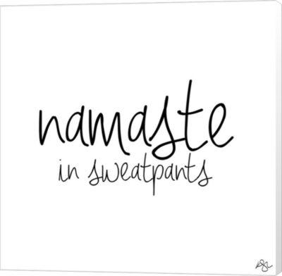 Metaverse Art Namaste In Sweatpants Canvas Wall Art