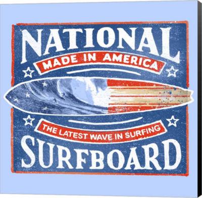 Metaverse Art National Surfboard Canvas Wall Art