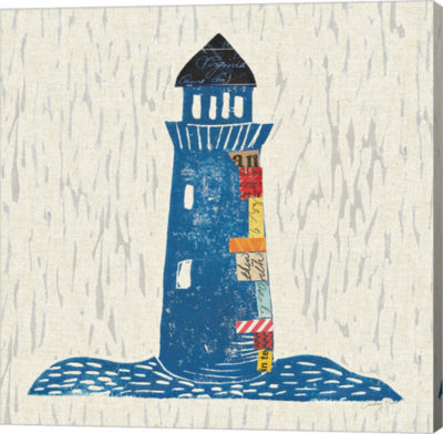 Metaverse Art Nautical Collage II on Linen CanvasWall Art