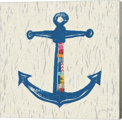 Metaverse Art Nautical Collage III on Linen CanvasWall Art