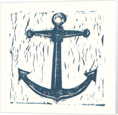 Metaverse Art Nautical Collage on White III CanvasWall Art