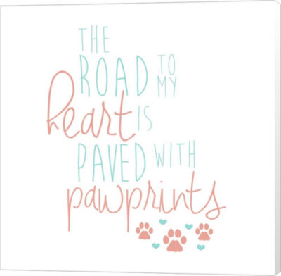 Metaverse Art Paved With Pawprints Canvas Wall Art
