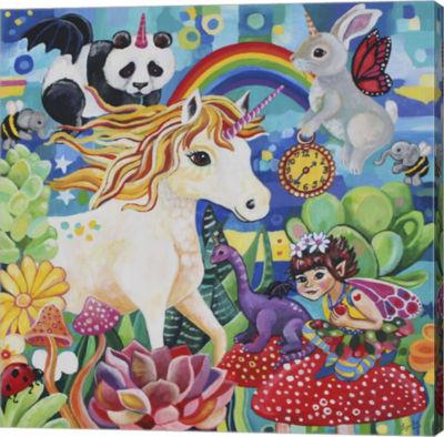 Metaverse Art Pixie Magic Canvas Wall Art