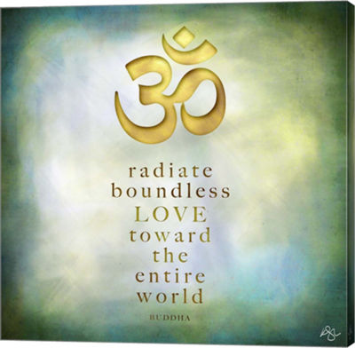 Metaverse Art Radiate Love Canvas Wall Art