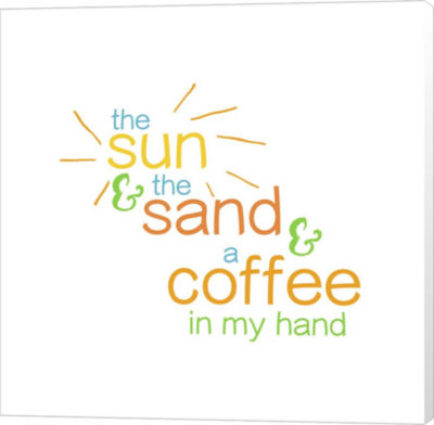 Metaverse Art Sun Sand And Coffee - Color Canvas Wall Art