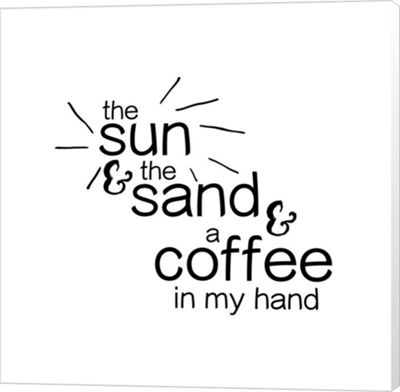 Metaverse Art Sun Sand And Coffee Canvas Wall Art