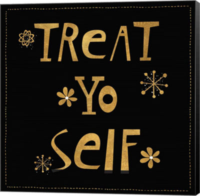 Metaverse Art Treat Yo Self Canvas Wall Art